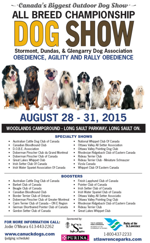 2015 Dog Show August 28 to 31